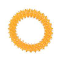 Hračka DOG FANTASY kroužek vroubkovaný oranžový 7 cm (1ks)