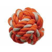 Hračka DOG FANTASY míč bavlněný oranžovo-bílý 12,5 cm (1ks)