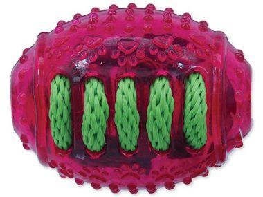 Hračka DOG FANTASY rugby míč gumový růžový 8 cm (1ks)