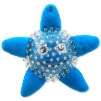 Hračka DOG FANTASY SEA TPR hvězdice v míčku 9 cm (1ks)