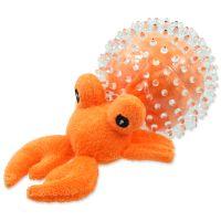 Hračka DOG FANTASY SEA TPR poustevník v míčku 9 cm (1ks)