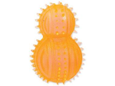 Hračka DOG FANTASY soudek gumový oranžový (1ks)