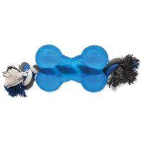 Hračka DOG FANTASY Strong kost gumová s provazem modrá (1ks)