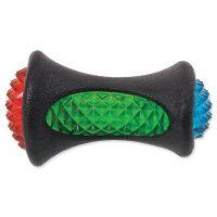 Hračka DOG FANTASY TPR LED kost černá 12,5 cm (1ks)