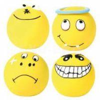 HRAČKA latexový smajlík míček, žlutý malý plněný 6cm