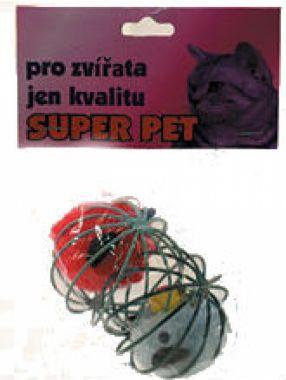 Hračka míč kovový s myší