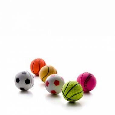 Hračka míček měkký barevný