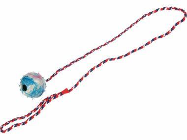 Hračka míček s provázkem