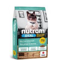 I19 Nutram Ideal Sensitive Cat - pro citlivé dospělé kočky s problematickou kůží, srstí a zažíváním 5,4kg