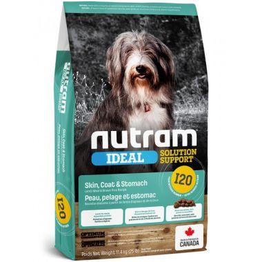 I20 Nutram Ideal Sensitive Skin Coat Stomach Dog - pro dospělé psy s citlivým zažíváním, problematickou kůží a srstí 11,4kg