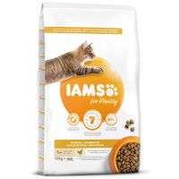 IAMS for Vitality Adult Cat Food Hairball Reduction with Fresh Chicken (10kg)