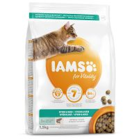 IAMS for Vitality Light in Fat Cat Food with Salmon (1,5kg)