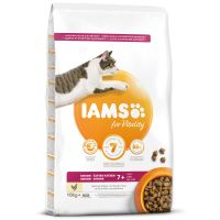 IAMS for Vitality Senior Cat Food with Fresh Chicken (10kg)