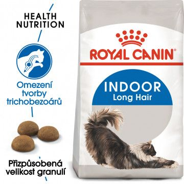 Royal Canin Indoor Longhair granule pro kočky žijící uvnitř a zdravou srst 0,4kg