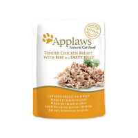 Kapsička APPLAWS cat pouch chicken with beef in jelly 70 g ()