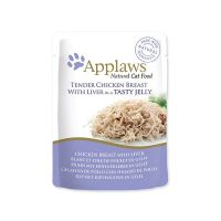 Kapsička APPLAWS cat pouch chicken with liver in jelly 70 g ()