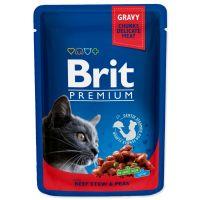 Kapsička BRIT Premium Cat Beef Stew & Peas (100g)