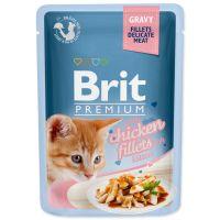 Kapsička BRIT Premium Cat Delicate Fillets in Gravy with Chicken for Kitten (85g)