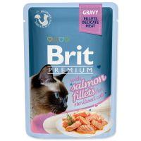 Kapsička BRIT Premium Cat Delicate Fillets in Gravy with Salmon for Sterilised (85g)