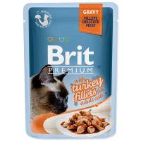 Kapsička BRIT Premium Cat Delicate Fillets in Gravy with Turkey (85g)