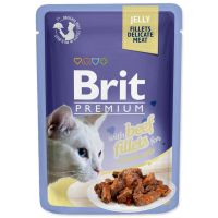 Kapsička BRIT Premium Cat Delicate Fillets in Jelly with Beef (85g)