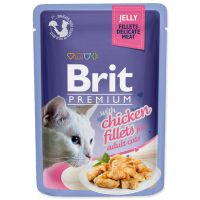 Kapsička BRIT Premium Cat Delicate Fillets in Jelly with Chicken (85g)