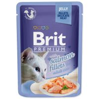 Kapsička BRIT Premium Cat Delicate Fillets in Jelly with Salmon (85g)
