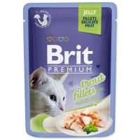Kapsička BRIT Premium Cat Delicate Fillets in Jelly with Trout (85g)