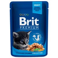 Kapsička BRIT Premium Kitten Chicken Chunks (100g)