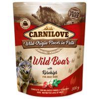 Kapsička CARNILOVE Dog Paté Wild Boar with Rosehips 300g