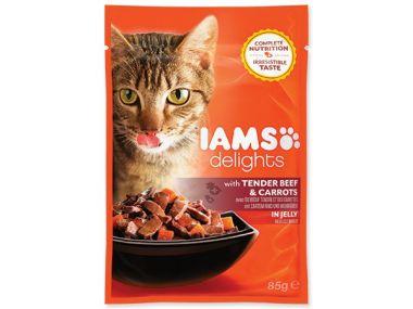 Kapsička IAMS Cat delights beef & carrot in jelly (85g)