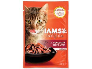 Kapsička IAMS Cat delights beef & liver in gravy (85g)