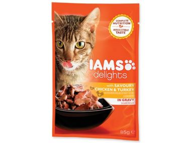 Kapsička IAMS Cat delights chicken & turkey in gravy (85g)