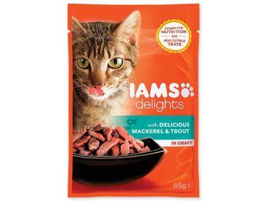 Kapsička IAMS Cat delights mackerel & trout in gravy (85g)