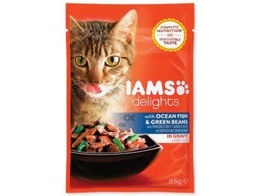 Kapsička IAMS Cat delights ocean fish & green beans in gravy (85g)
