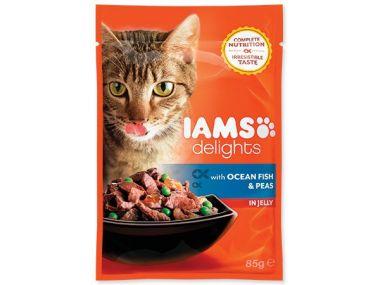 Kapsička IAMS Cat delights ocean fish & peas in jelly (85g)