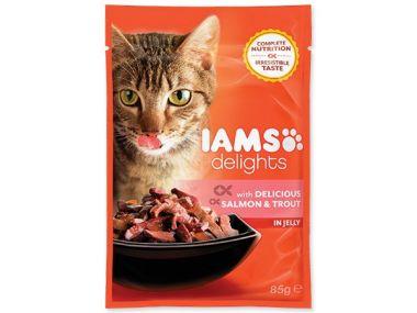 Kapsička IAMS Cat delights salmon & trout in jelly (85g)