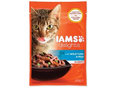 Kapsička IAMS Cat delights tuna & peas in gravy (85g)