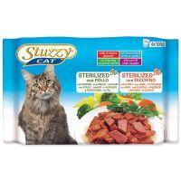 Kapsička STUZZY Cat Sterilized kuřecí + krůtí - multipack (400g)