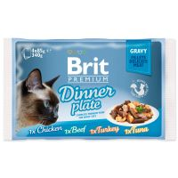 Kapsičky BRIT Premium Cat Delicate Fillets in Gravy Dinner Plate (340g)