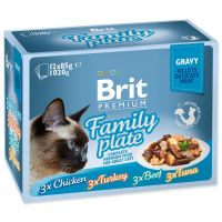 Kapsičky BRIT Premium Cat Delicate Fillets in Gravy Family Plate (1020g)