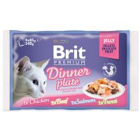 Kapsičky BRIT Premium Cat Delicate Fillets in Jelly Dinner Plate (340g)