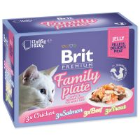 Kapsičky BRIT Premium Cat Delicate Fillets in Jelly Family Plate (1020g)