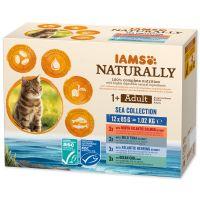 Kapsičky IAMS Cat Naturally mořské maso v omáčce multipack 1020g