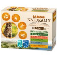 Kapsičky IAMS Cat Naturally výběr z mořských a suchozemských mas v omáčce multipack 1020g