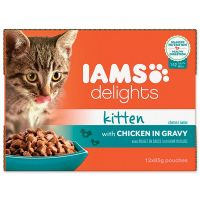 Kapsičky IAMS Kitten delights chicken in gravy Multipack (1020g)