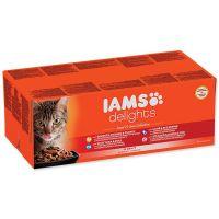 Kapsičky IAMS výběr z mořských a suchozemských mas v omáčce Multipack (4080g)