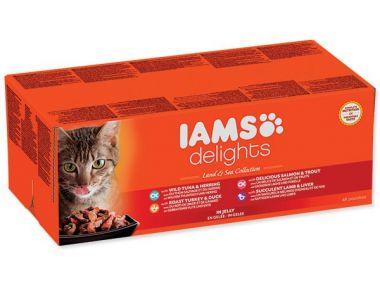 Kapsičky IAMS výběr z mořských a suchozemských mas v želé Multipack (4080g)