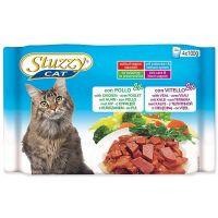 Kapsičky STUZZY Cat kuřecí + telecí - multipack (400g)