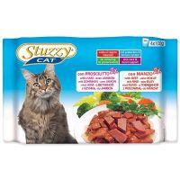 Kapsičky STUZZY Cat šunka + hovězí - multipack (400g)